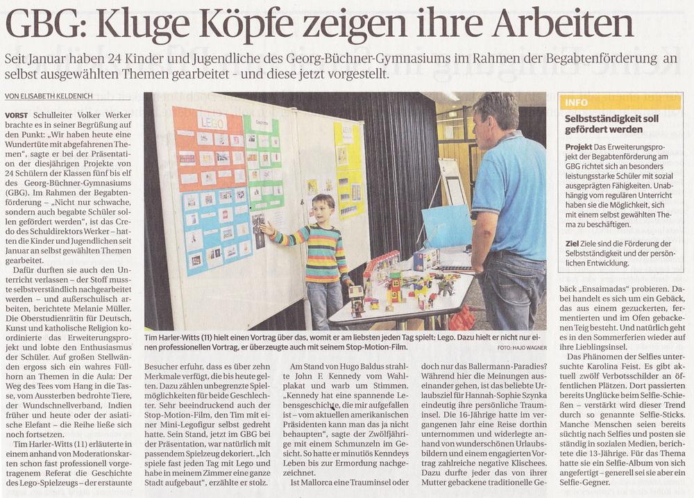 Begabtenförderung am GBG - GBG Kaarst – Georg-Büchner-Gymnasium